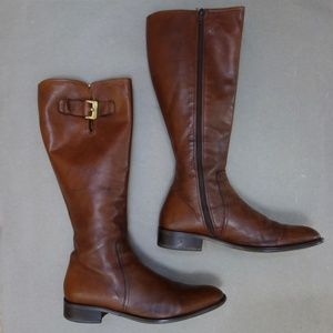 Italian Leather Under the Knee Riding Boots